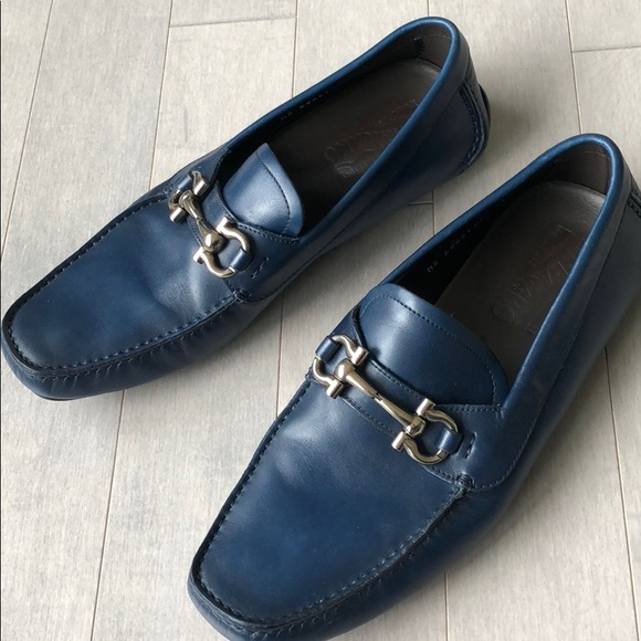 c2f0a55c02413 Salvatore Ferragamo Shoes | Mens Blue Loafer Excellent | Poshmark